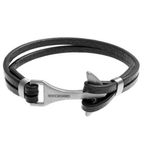Bracelet double wire black leather with closure to Still