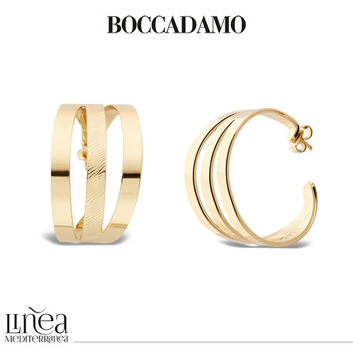 Yellow gold plated crescent earrings