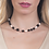 Thumbnail: Necklace with natural pearls and obsidian