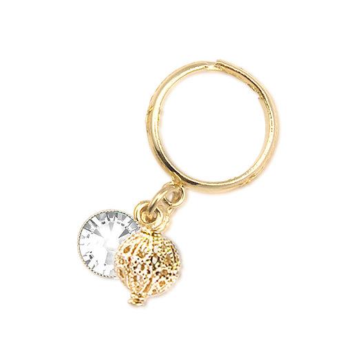 CROCHET RING  C18A /Swarovski stones