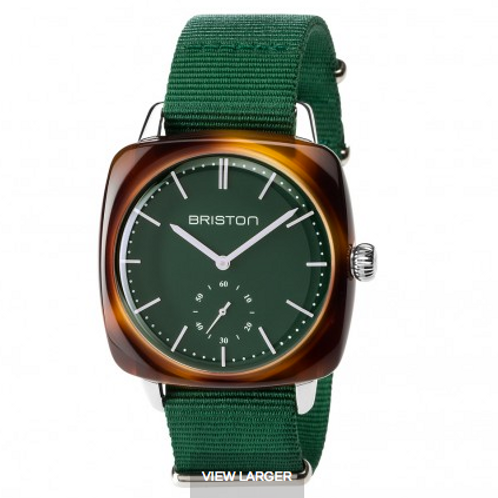 Clubmaster Vintage Acetate - Small Second tortoise shell British green matt dial