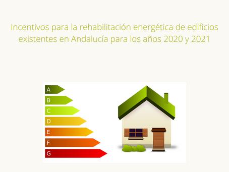 Subvención de Incentivos para rehabilitación energética de edificios existentes en Andalucía