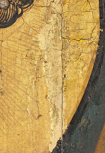 Schilderij restauratie goud Lion and tiger
