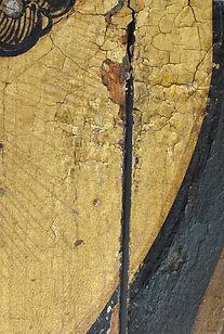 Schilderij tijdens restauratie Lion and Tiger