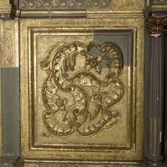 Restauratie goud kunstwerk lion and Tiger