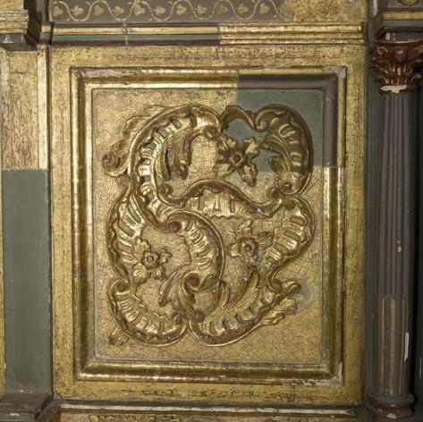 Restoration gold artwork lion and tiger