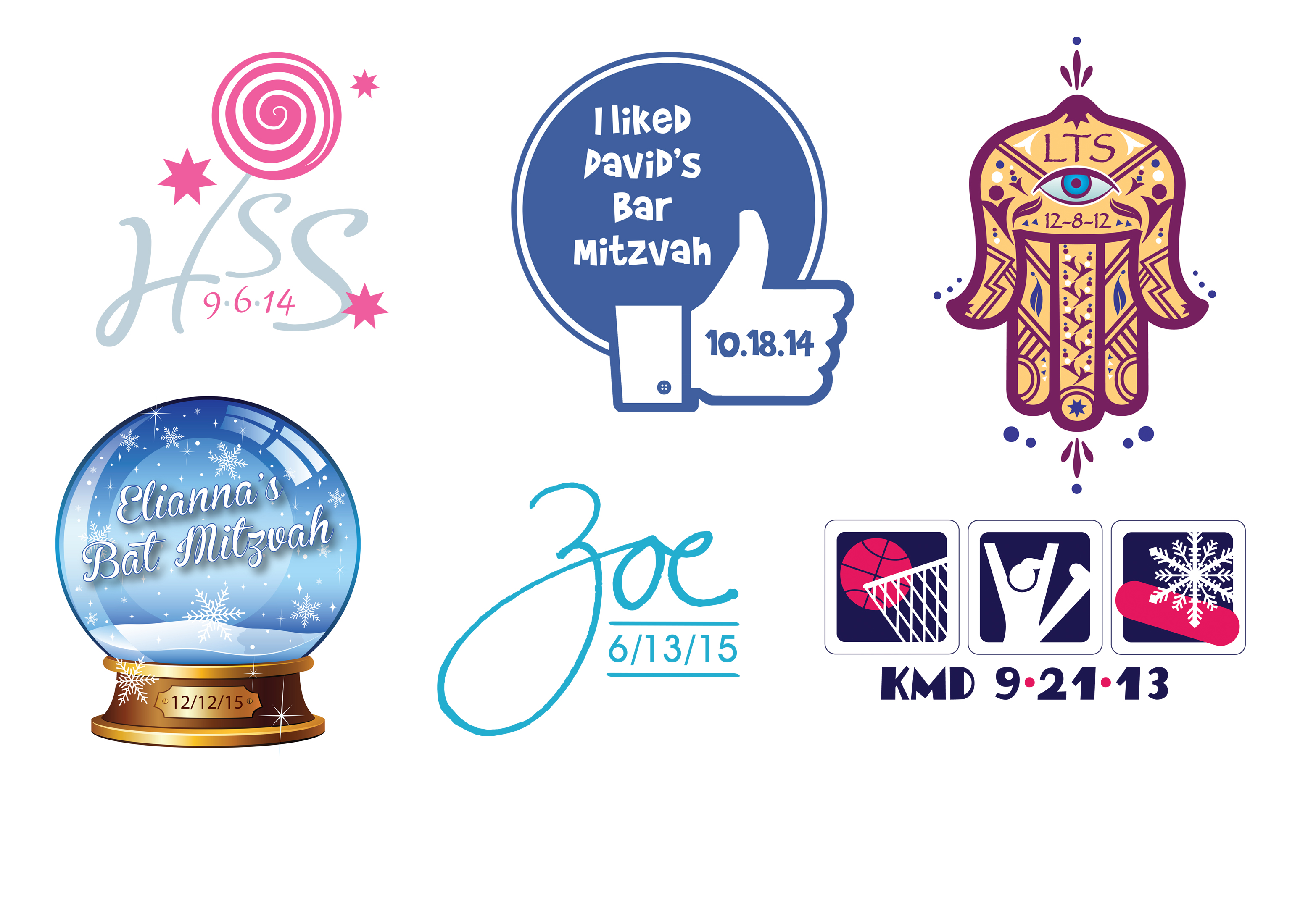 bar and bat mitzvah logos