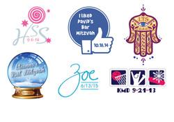 bar and bat mitzvah logos