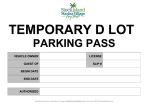 Example Lot D Parking Pass