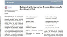 Outstanding Reviewers for Organic & Biomolecular Chemistry in 2016