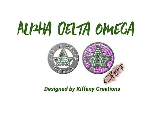 Alpha Delta Omega Chapter Charm (PRE-ORDER)