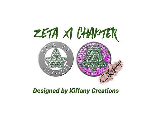 PRE-ORDER Zeta Xi Custom Chapter Charm