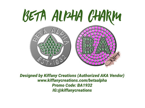 PRE-ORDER: Beta Alpha Chapter Charm