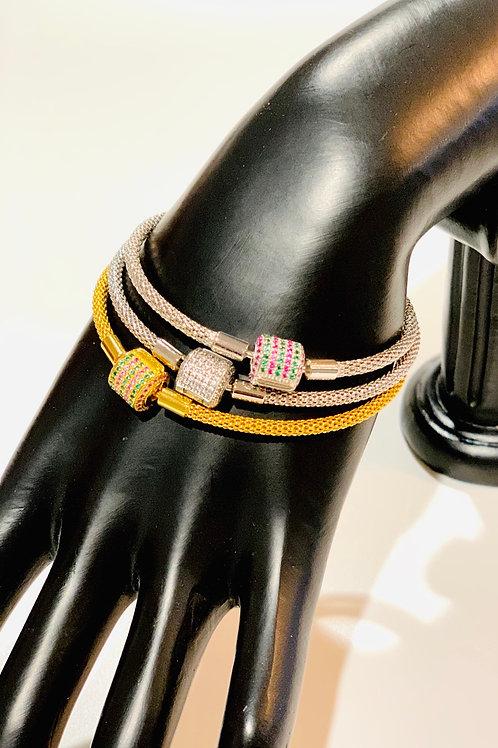 Jericho Charm Bracelets (Pavé Clasp)