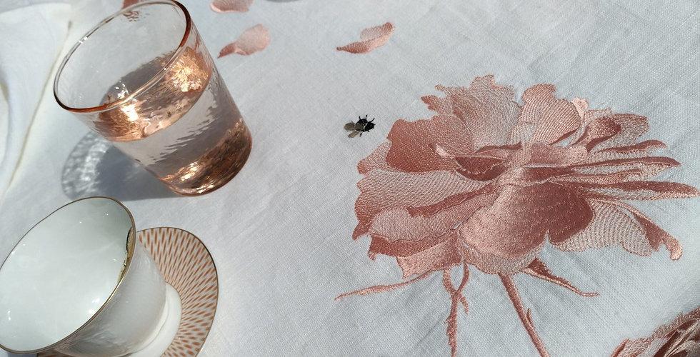 ROSE 3 tablecloth / cкатерть /  nappe