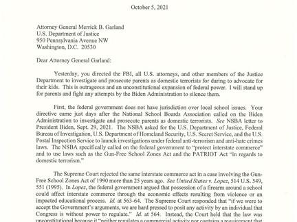 Missouri Attorney General Slams Biden DOJ for Attempting to Intimidate Parents