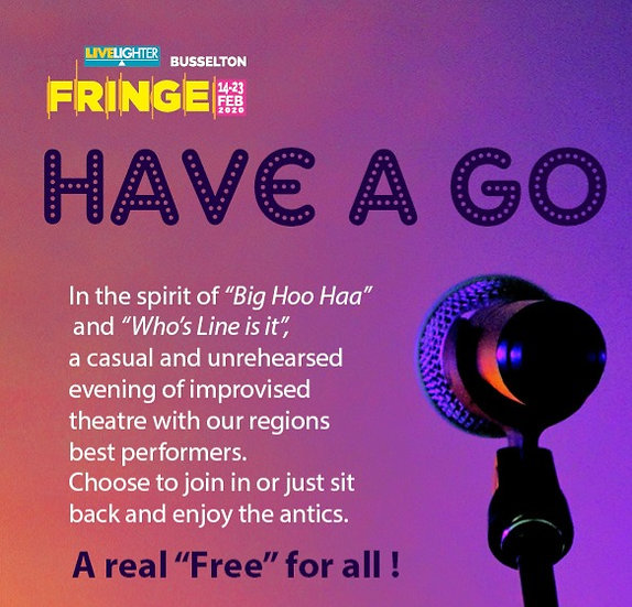 Have a Go – Busselton Repertory   FREE