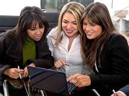 Women looking at Schedule101 online