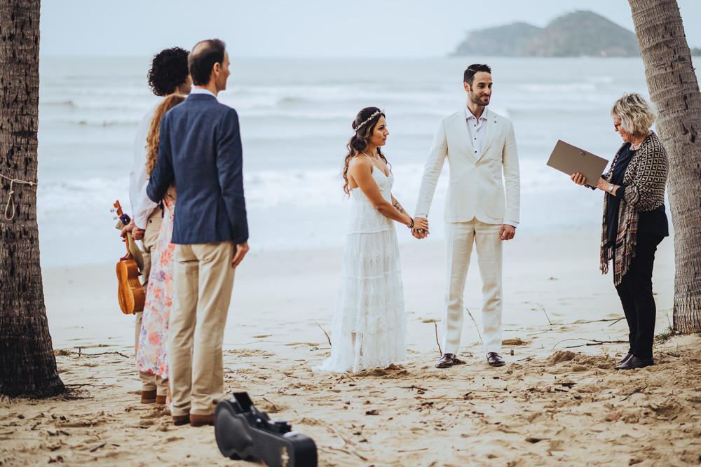Intimate Beach Wedding in Cairns