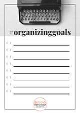 organizing goals