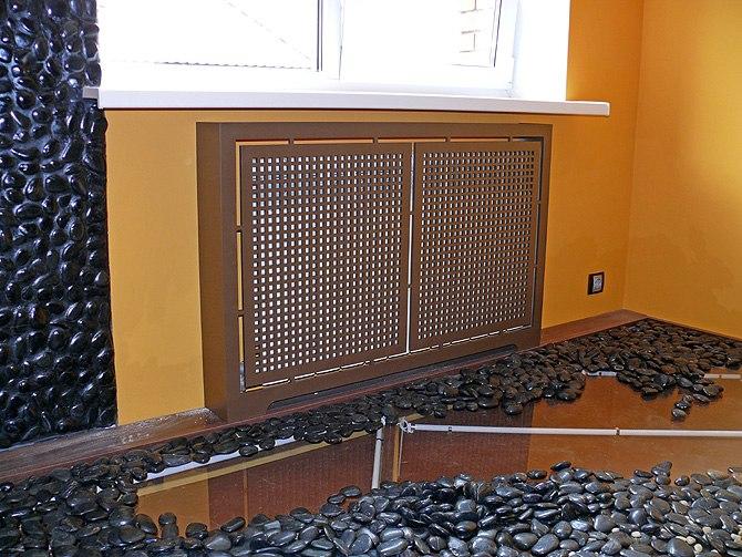 декоративный экран для радиатора ото