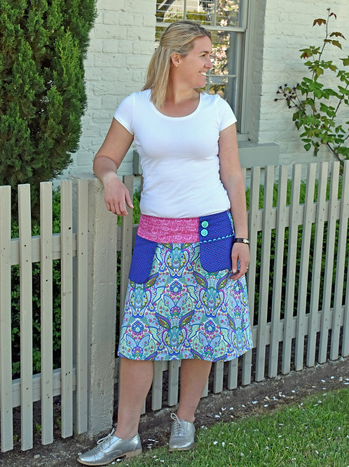 Clares Place Ladies Swing Pocket Skirt
