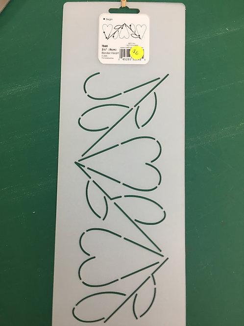 Quilting Stencils - Border Heart