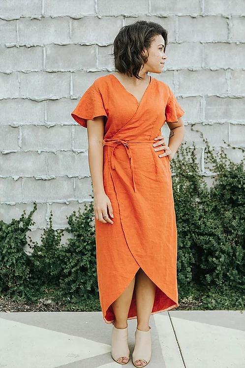 Dressmaking – Linen Wrap Dress - Julie Dodds