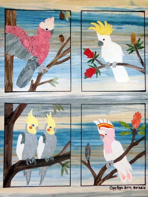 Quilt Top Kit - Batik Cockatoo