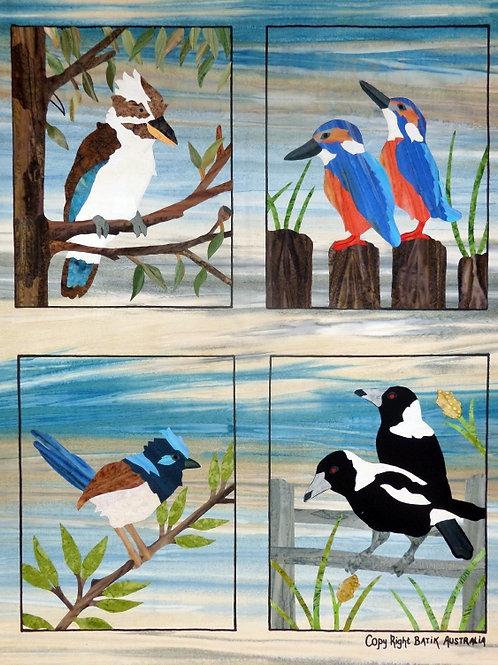 Quilt Top Kit - Batik Backyard Birds
