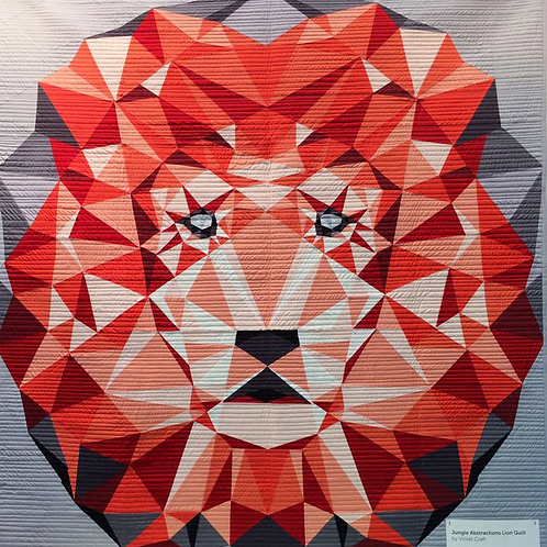 Violet Craft - The Jungle Abstractions Quilt The Lion