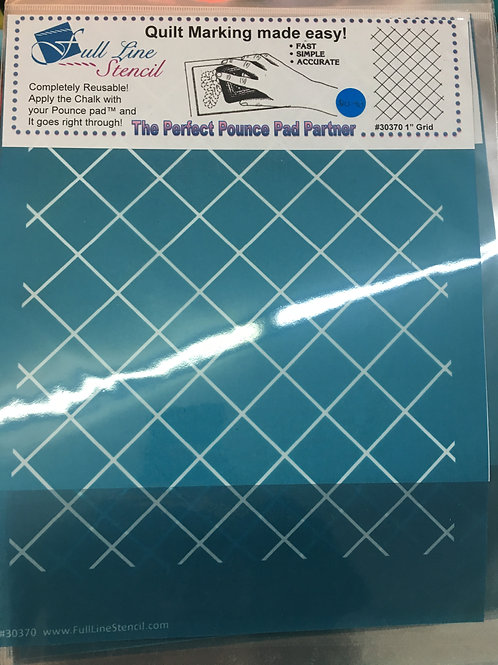 Pounce Pad Quilting Stencils - 1 inch grid