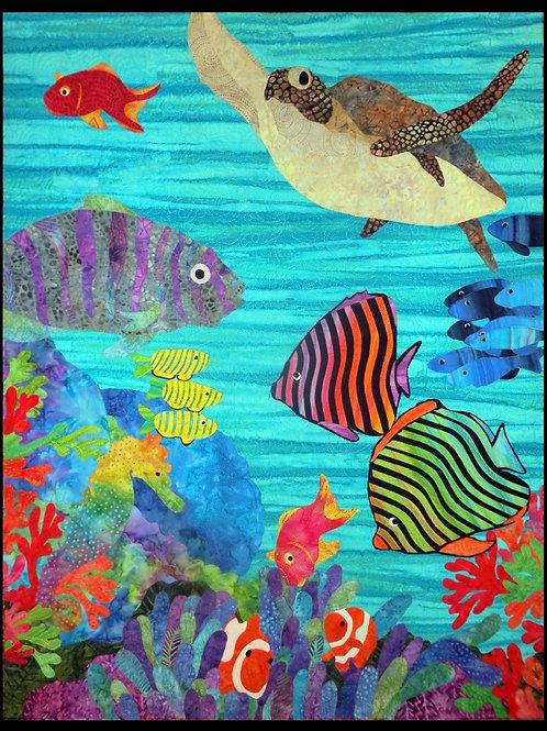 Quilt Top Kit - Batik Reef