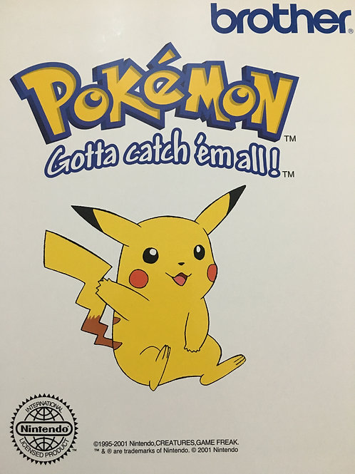 Brother Embroidery Card - Pokemon