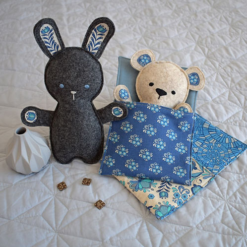 Clares Place Bed Time Bunny and Bear