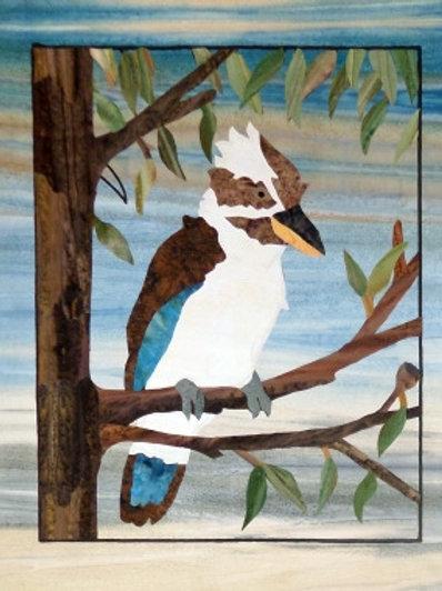 Quilt Top Kit - Batik Backyard Birds 1/4 panel 1