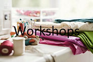 Sewing workshops and events listing.