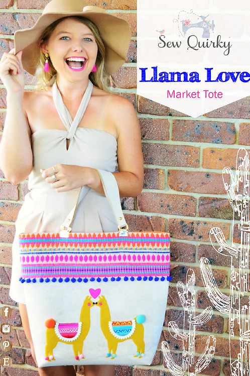 Sew Quirky Llama Love Bag
