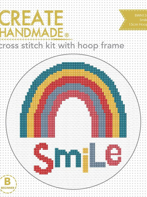 Smile Cross Stitch Kit with frame