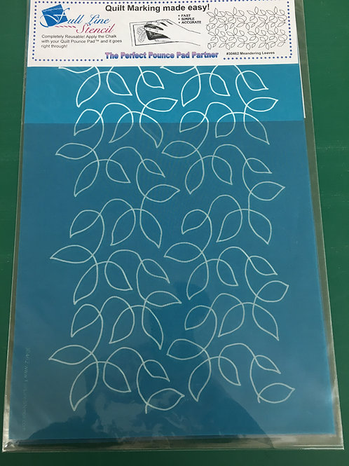 Pounce Pad Quilting Stencils - Meandering Leaves