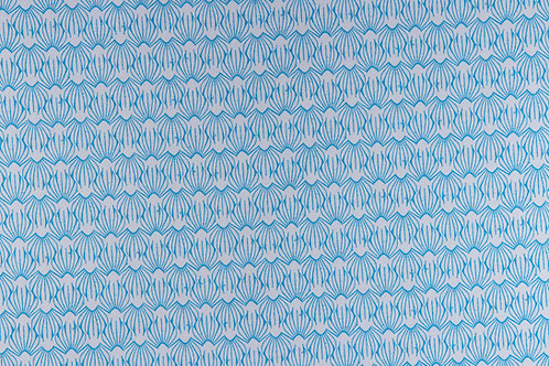 On A Spring Day - LV405-BL2 - Petal - Blue Lagoon Fabric