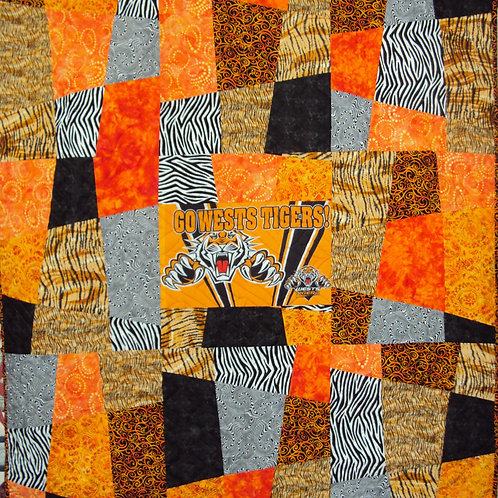 West Tigers Quilt Top Kit