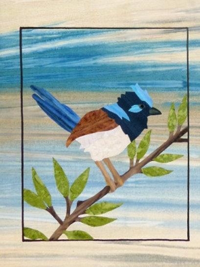 Quilt Top Kit - Batik Backyard Birds 1/4 panel 3