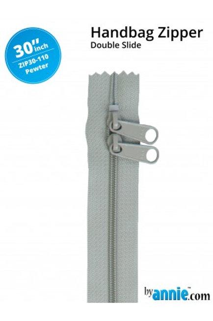 ByAnnie – 30 inch Zipper Pewter