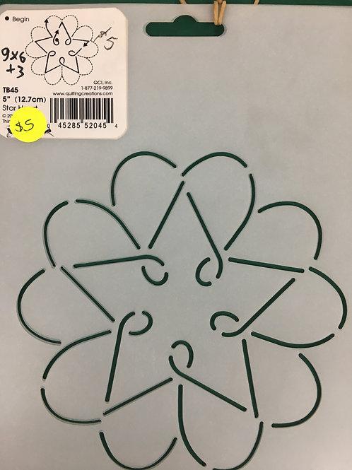 Quilting Stencils - Star Heart
