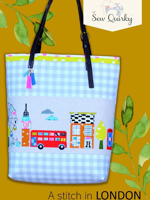 Sew Quirky A Stitch in London Bag
