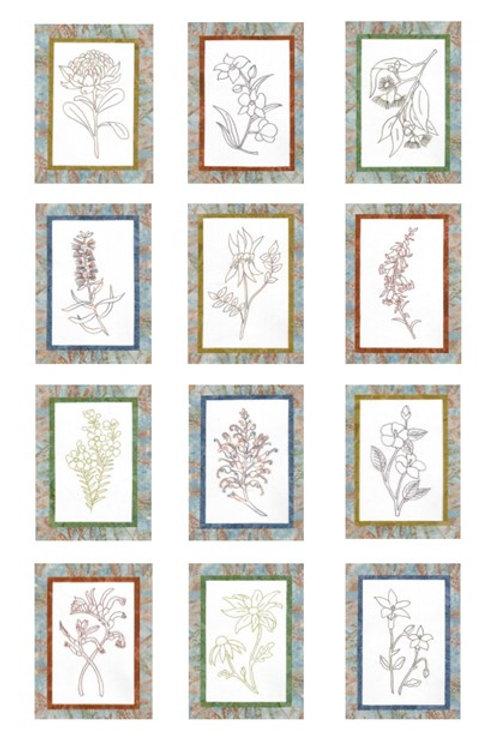 BOM - Vintage Australian Floral Emblems