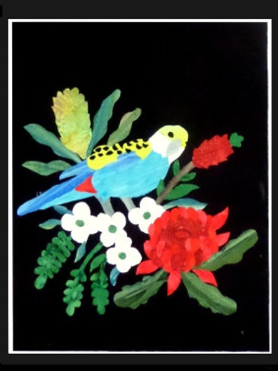 Quilt Top Kit - Batik Rosella 1/4 panel 3