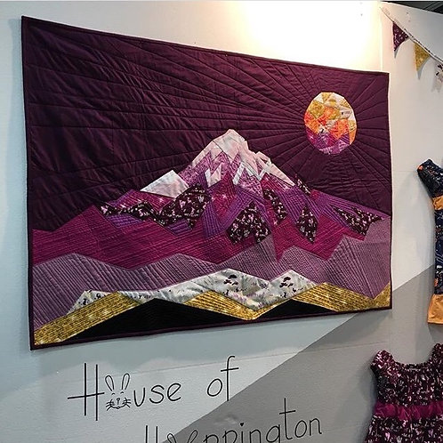 Violet Craft - The Elevated Abstractions Mt Hood Quilt
