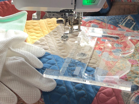 Getting started with free-motion quilting….